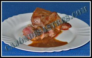 Receta de secreto de cerdo con salsa de mostaza