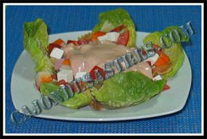 ensalada de pasta con salsarosa