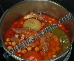receta de garbanzos con costilla adobada