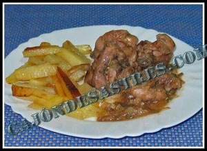receta de pollo en salsa marinado con jerez