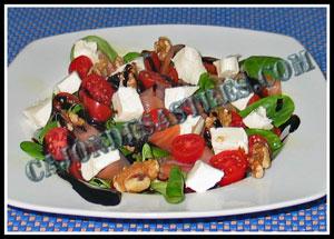 receta de ensalada de canónigos con salmon