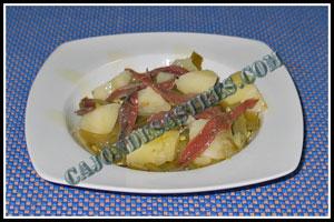 receta de judias verdes con anchoas