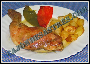 pollo al horno con curry