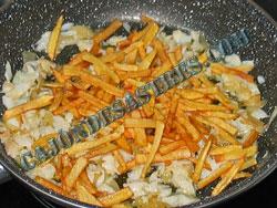 receta revuelto bacalao y patatas