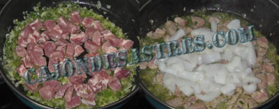 receta de arroz con calamares y carne