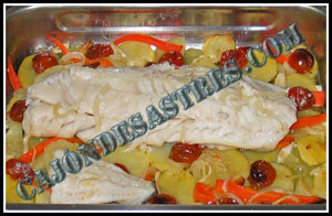receta de bacalao al horno con guarnición