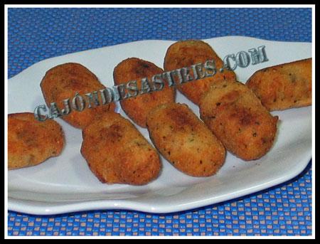 Croquetas de chorizo con carne de cocido