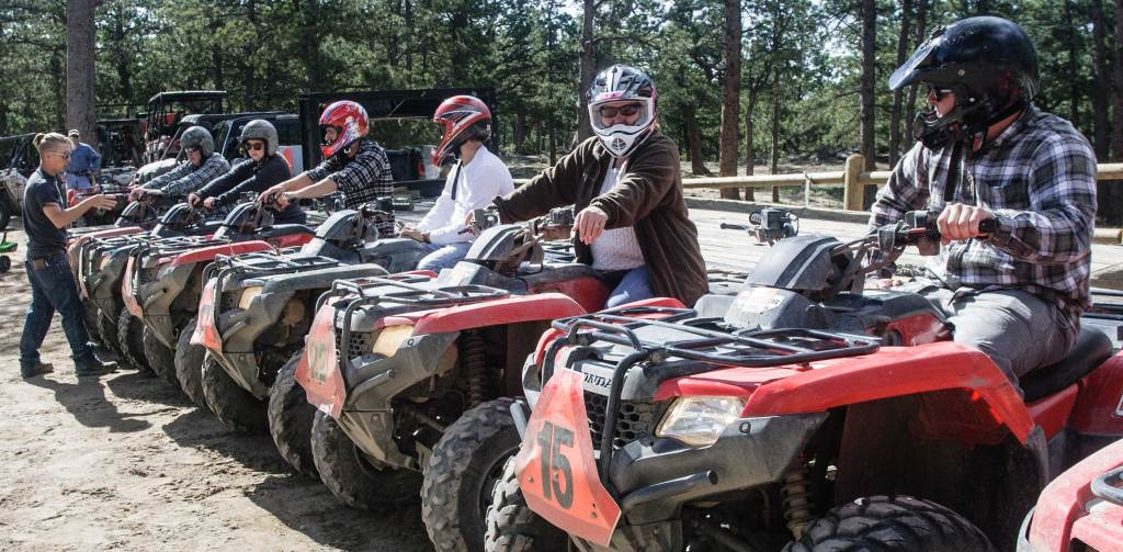 The ATVs are lined up, ready to go, fast! Tricia's looking at you; she's done this before, but has to wait as instructions are provided, maps are handed out and questions are answered.