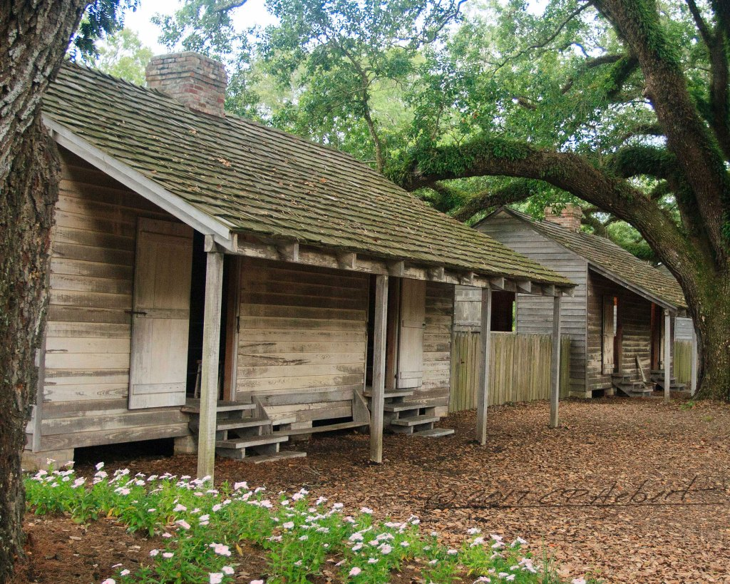 This is two of six slave cabins at Oak Alley. An increasing number of plantations continue to provide additional information about slavery, working conditions, interaction between plantation owners and slaves as research reveals the history.