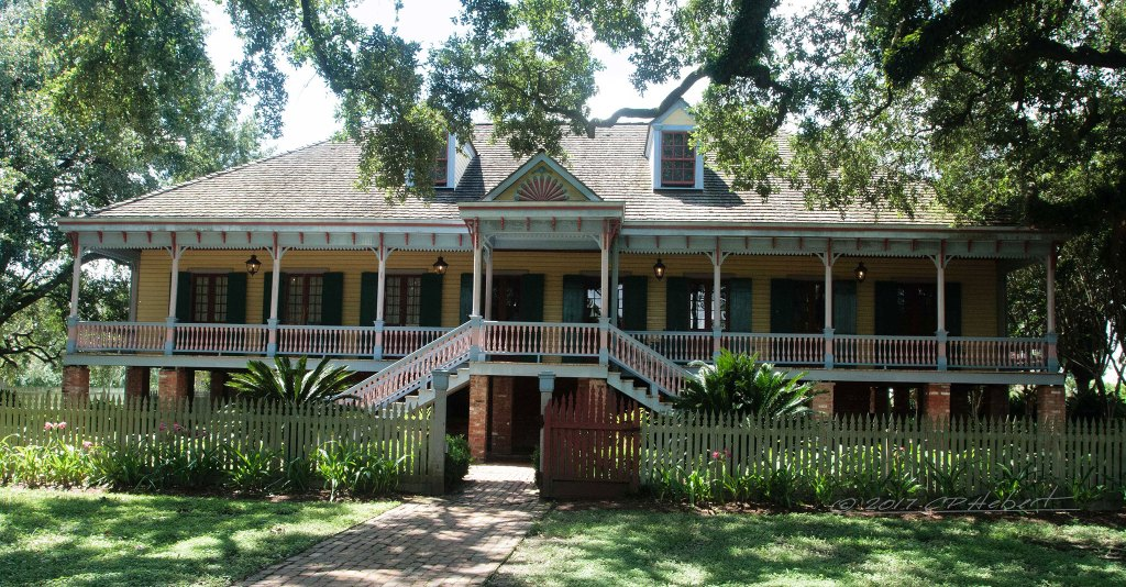 While renovating the home, the top coat of white paint was removed, revealing the original creole colors used prior to the area becoming Americanized.