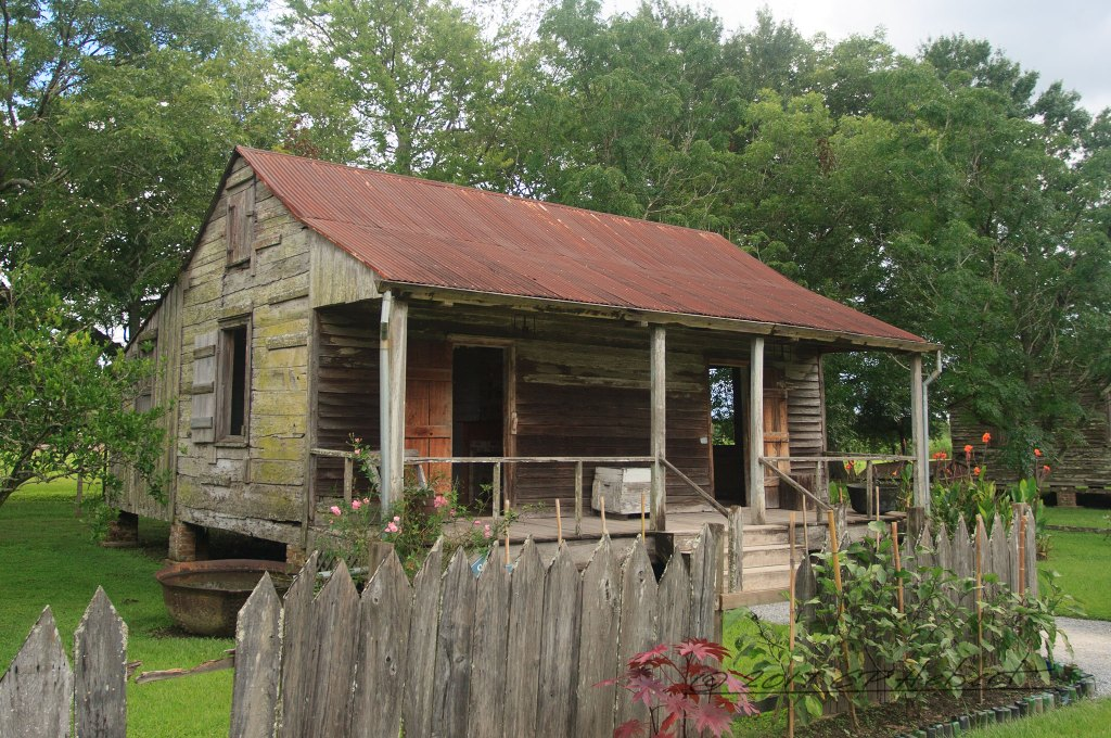 This is the slave cabin which we were able to enter. It was built in 1840.