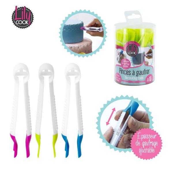 Pinças marcadoras de pasta de açúcar - pack 10