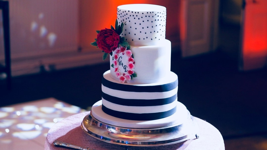 The first wedding cake I ever made in January 2018