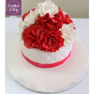 Sightly Girls Butterfly Name Birthday Cakes Red Rose Cake Girl