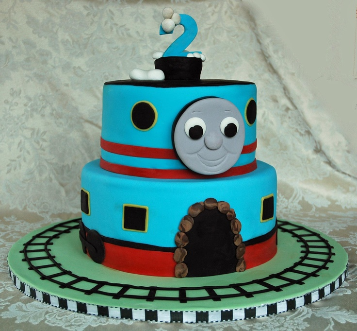 2nd Thomas The Train Birthday Cake Http Dimitrastories Blogspot Com