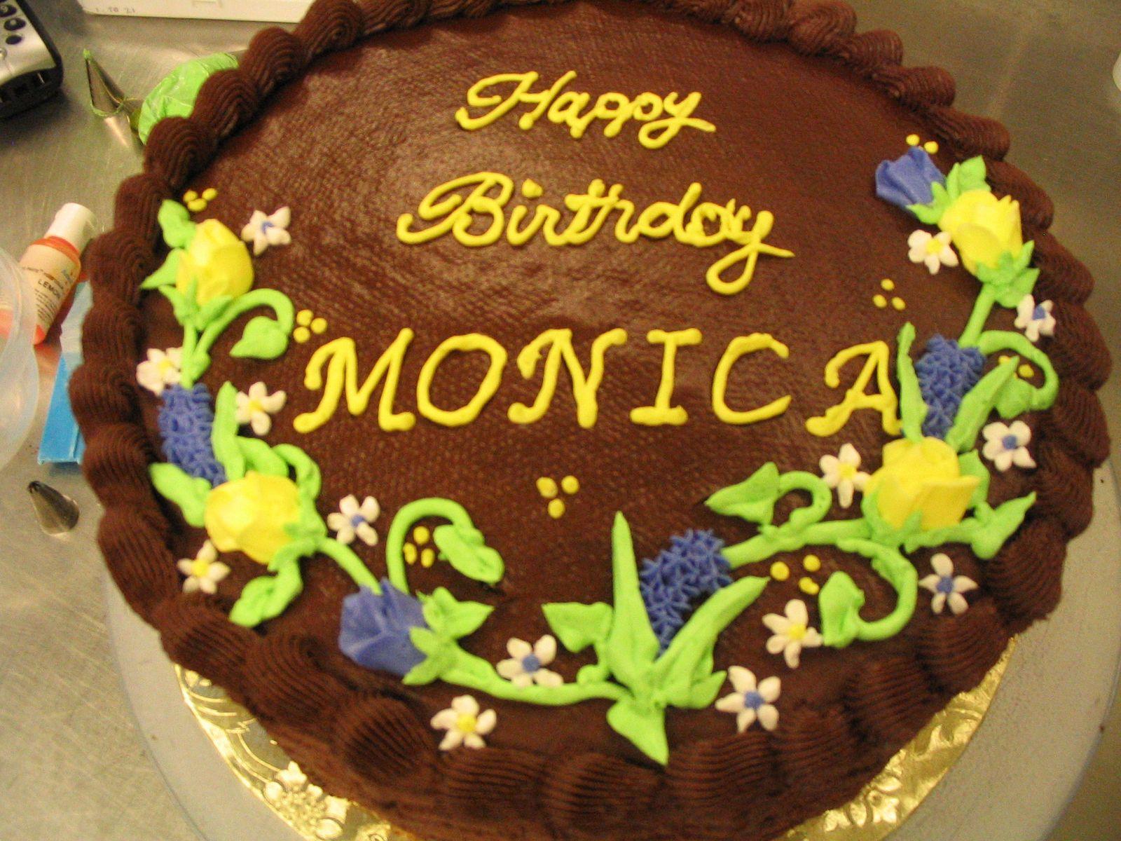Monika Birthday Cakes