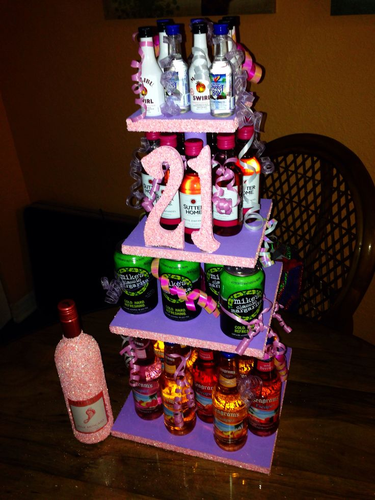 Alcohol Birthday Cakes