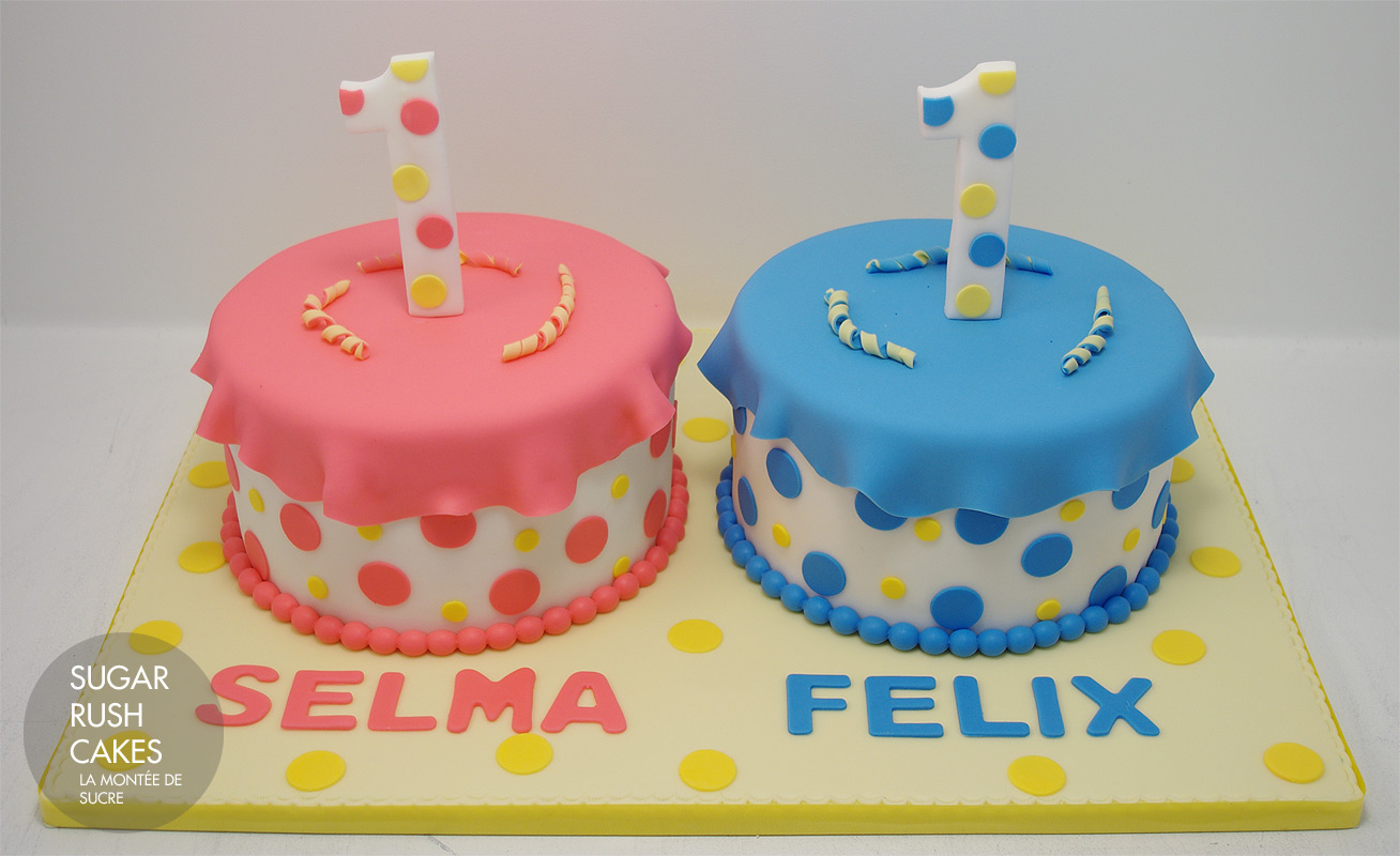 Twin Birthday Cakes