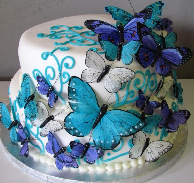 Butterflies Birthday Cakes
