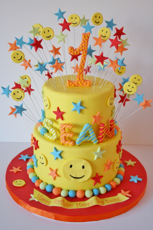 Smiley Birthday Cakes