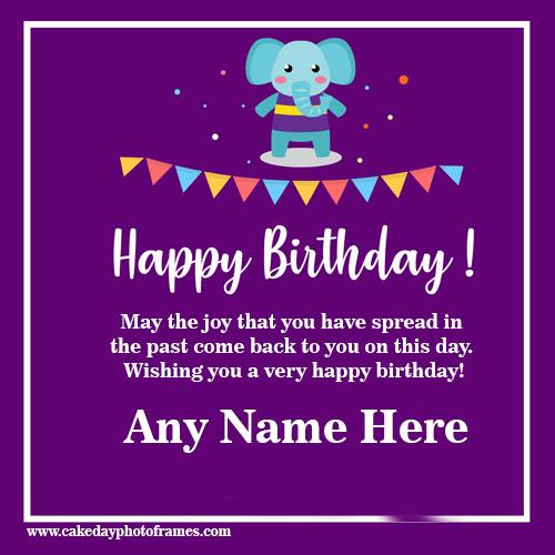 Happy Birthday Card With Name Free Download Cakedayphotoframes Cakedayphotoframes