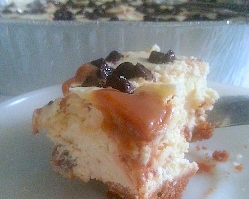 Snickers Caramel Cheese Bars