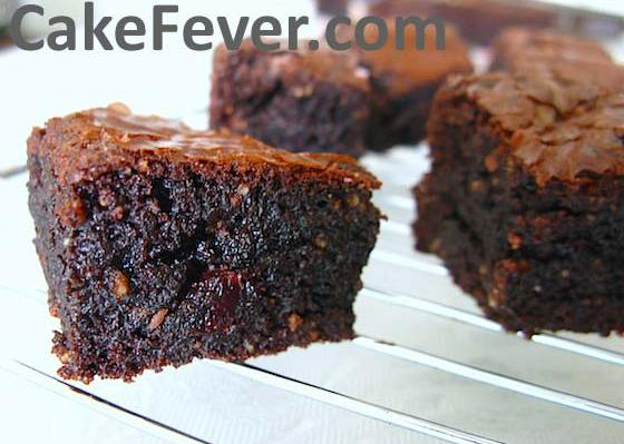 Dark Choco Cherry Brownies Goldoven