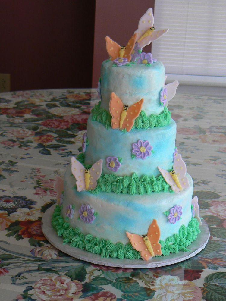 Large Butterflies Cake