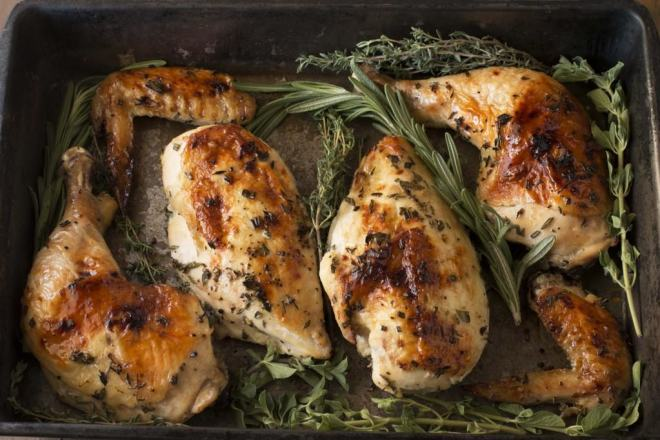 Roasted Chicken and Herbs