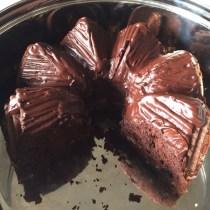 Pecan Walnut Chocolate Fudge Cake
