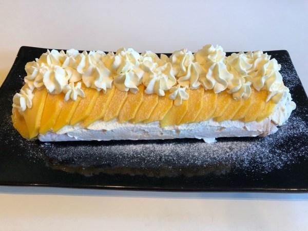Mango Passionfruit Yuzu Pavlova Roll