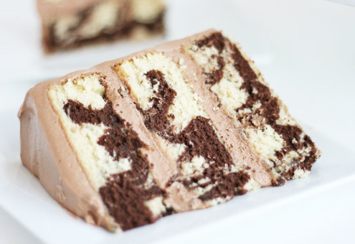 Marble Cake With Rich Chocolate Frosting Cake Paper Party