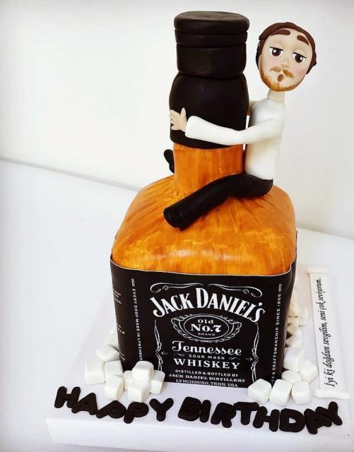 Cool Jack Daniels Whiskey Cake With Man Hugging Bottle Jpg Hi Res 720p Hd