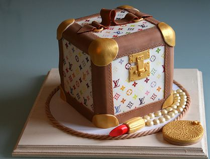 Louis Vuitton Make Up Box Cake With LipstickJPG 3 Comments