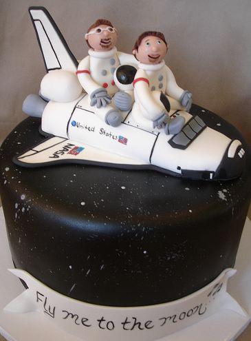 Space Shuttle Space Theme Cake Jpg