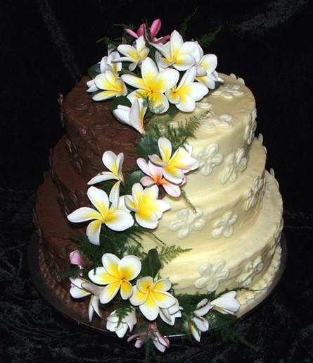 Frangipani Wedding With Flowersjpg 2 Comments Cake