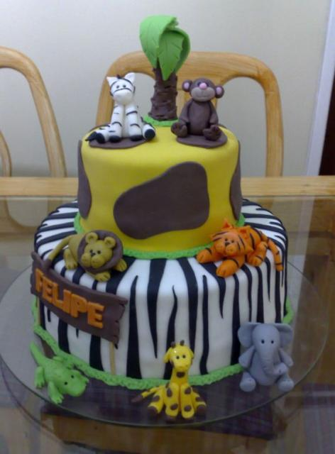 Two Tier Safari Theme Birthday Cake Jpg 1 Comment