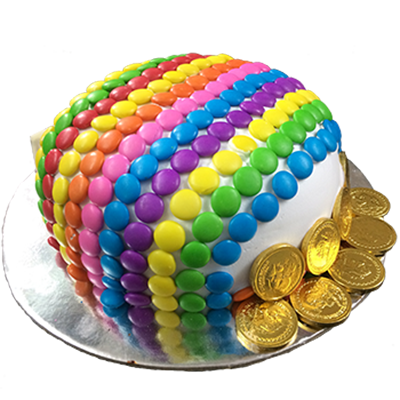 Gems And Coins Cake