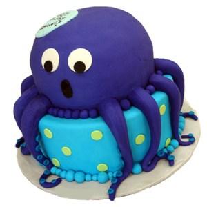 Blue Octopus Cake