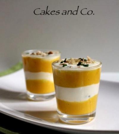 Mousse mango e pecorino