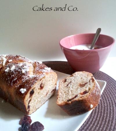 pan brioche ai mirtilli rossi e cocco