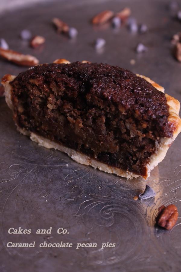 Caramel chocolate pecan piesIMG_0061