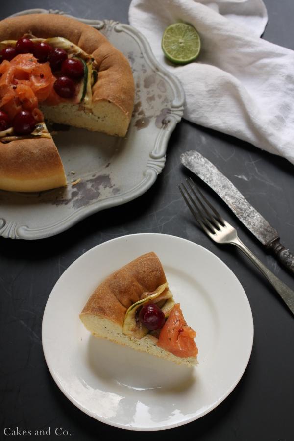 Brioche-ai-formaggi-salmone-e-ciliegie 1