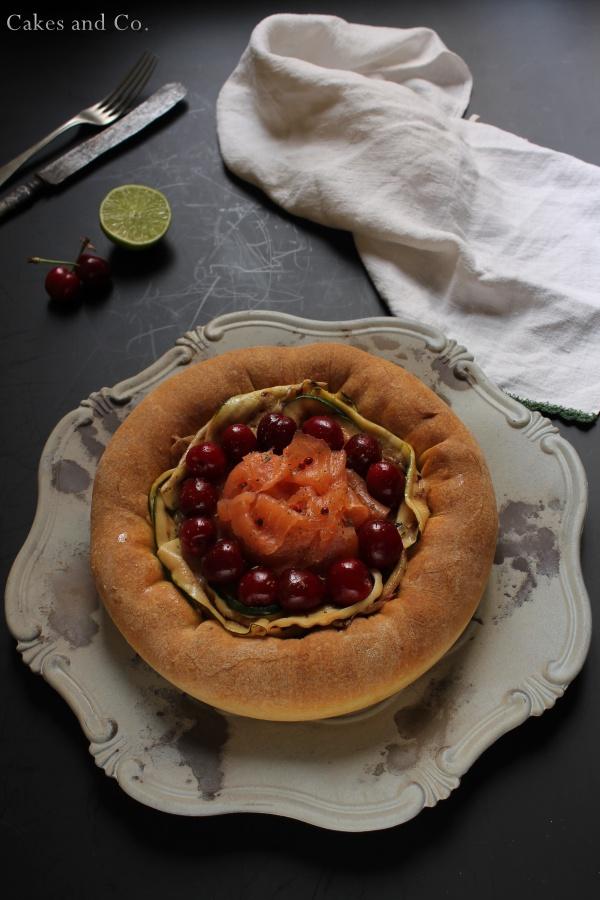 Brioche-ai-formaggi-salmone-e-ciliegie 3