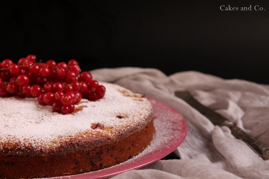 torta di ricotta e ribes rosso