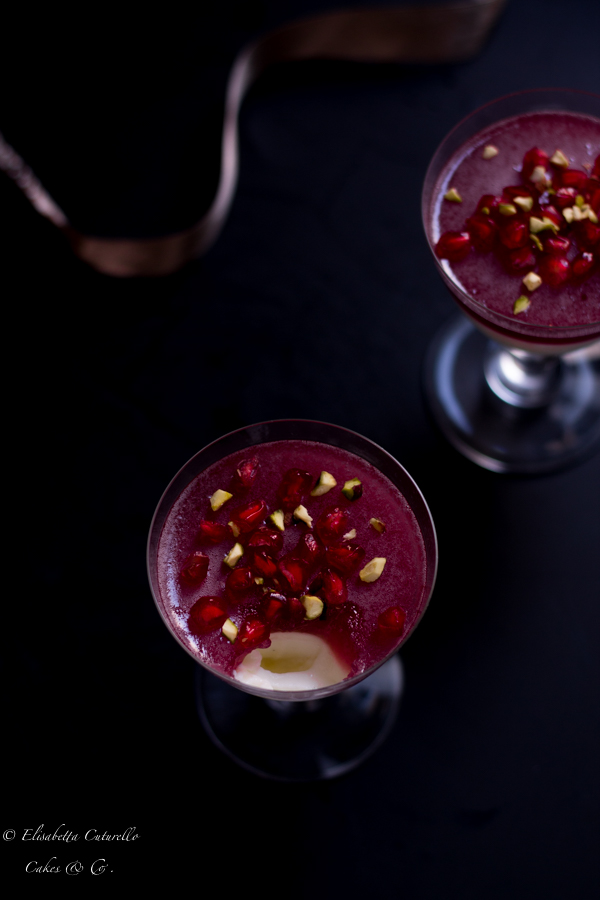 Panna cotta alla melagrana per fruit24