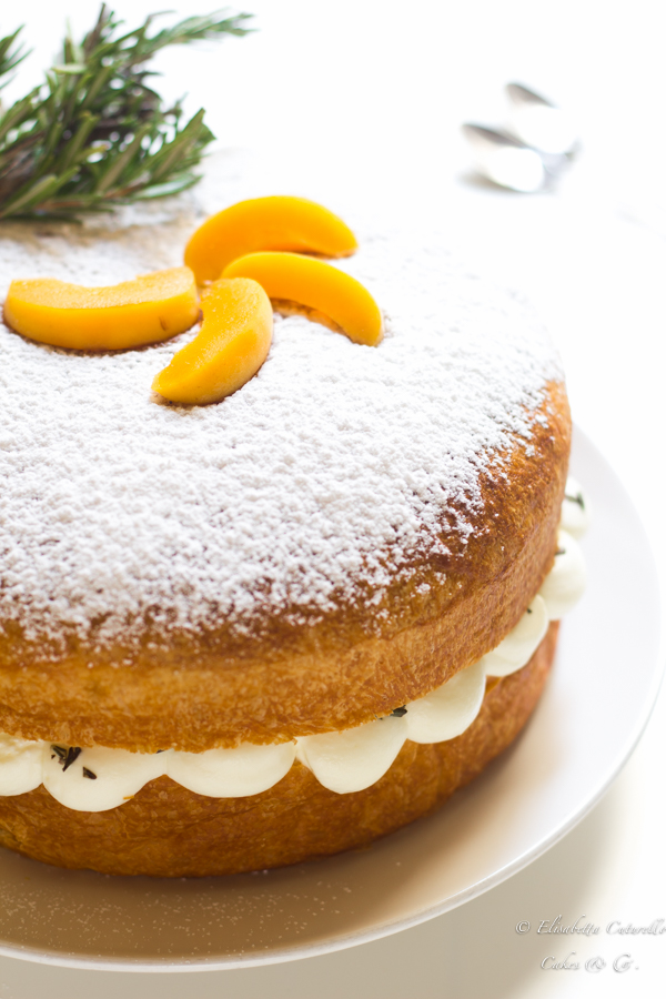 La torta brioche alle albicocche e rosmarino perfetta come golosa colazione o sfiziosa merenda