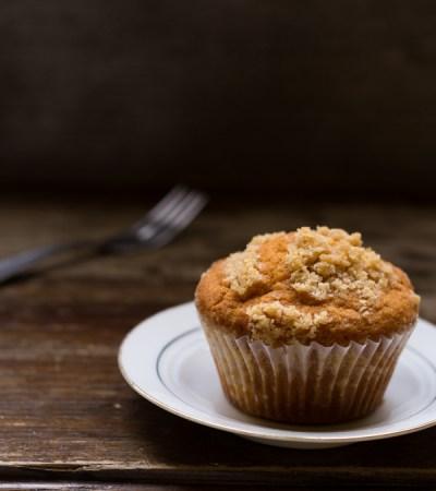 Muffins alla panna e mele al profumo di zenzero e cannella