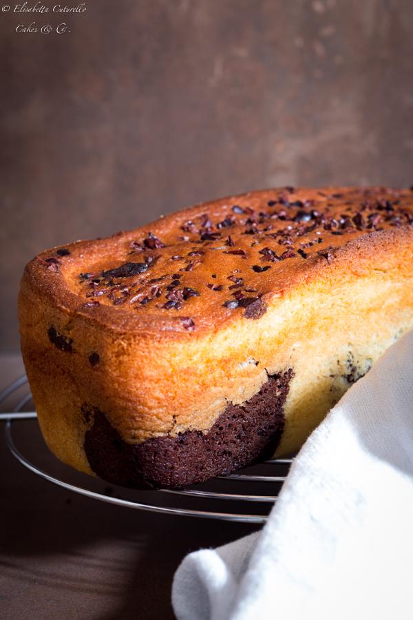 Plumcake al mascarpone variegato al cacao