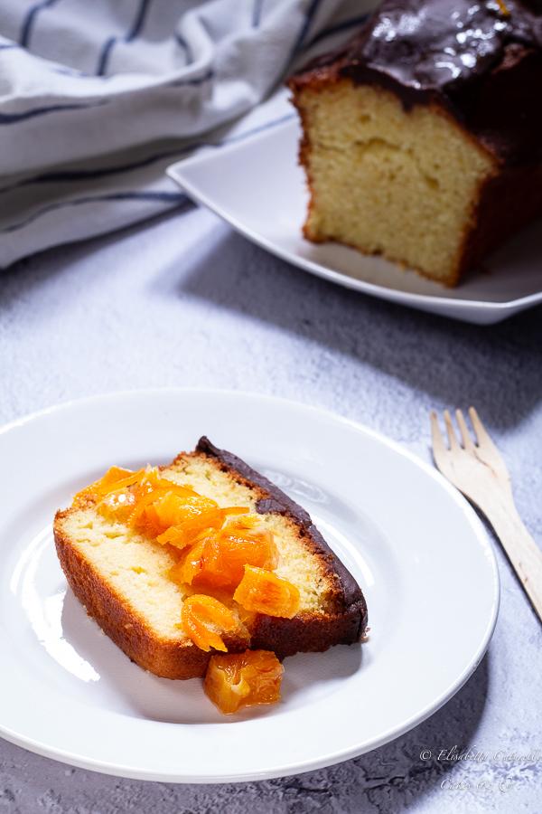 plumcake all'arancia con ganache al cioccolato e composta d'arancia